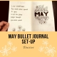 May Bullet Journal Set-Up: Daisies